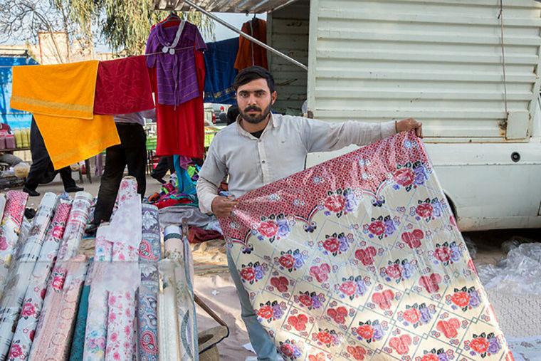اعتراض اهالی قزوین به سد معبر دستفروشان