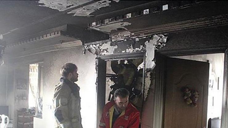 سوختن خانه ای در میان شعله های آتش در شرق تهران