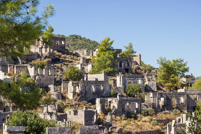 مناطق دیدنی ترکیه/ شهر متروک کایاکوی Kayakoy