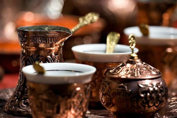 سوغات ترکیه، ست قهوه خوری مسی
