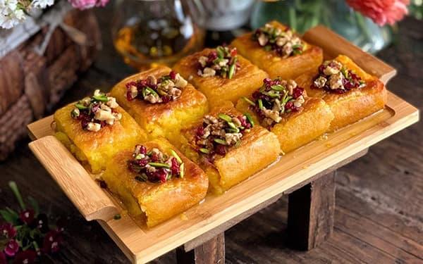 کوکو شیرین از غذاهای سنتی مشهد