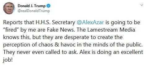 ترامپ: الکس در حال انجام یک کار عالی است!