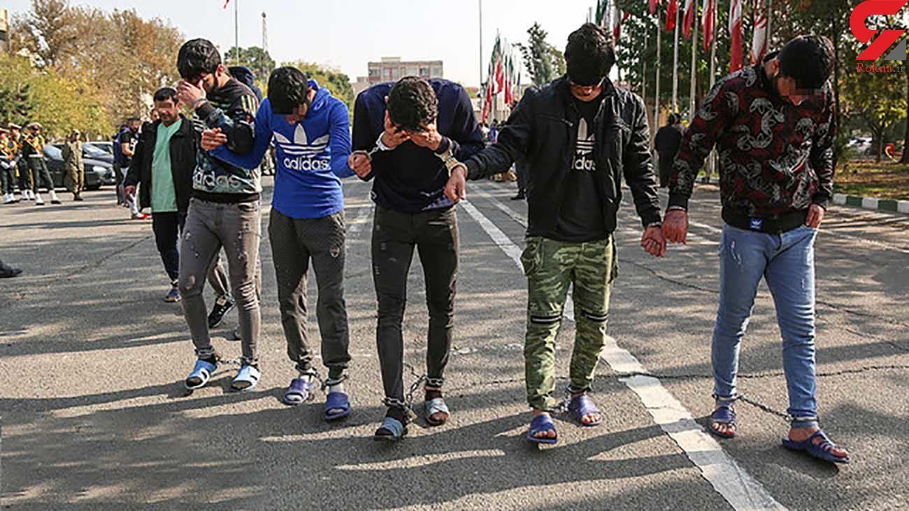 دستگیری مردان چماق به دست در دالاهو