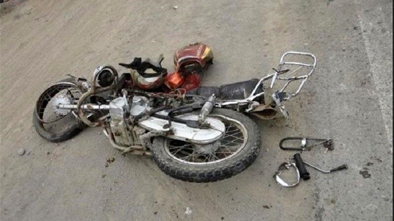 مرگ تلخ  موتور سوار در قزوین