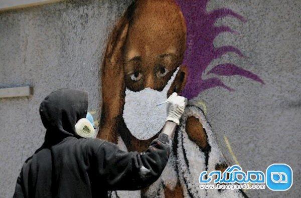 وقتی کرونا سوژه نقاشی دیواری می شود