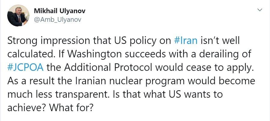 هشدار روسیه به آمریکا درباره نابودی برجام