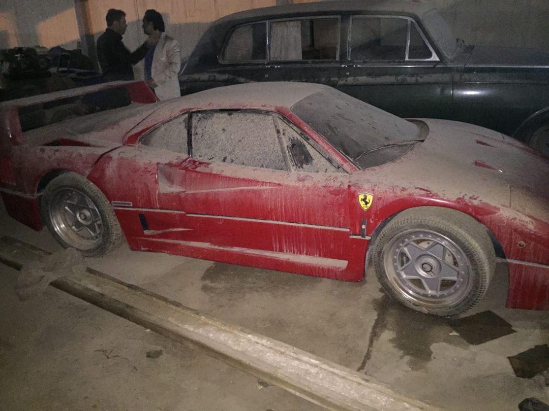 ماشین فراری F40 رها شده عدی حسین ، پسر صدام حسین، در شمال عراق پیدا شد.