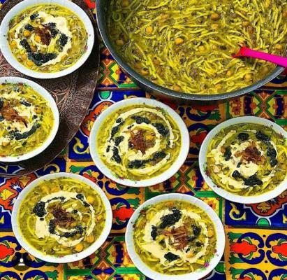 طرز تهیه آش رشته/افطاری شب پانزدهم ماه رمضان