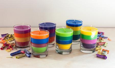 آموزش مرحله به مرحله درست کردن شمع در خانه
