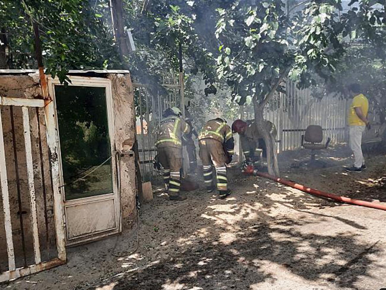 عکس های تلخ از  آتش سوزی پارک جنگلی کوهسار تهران
