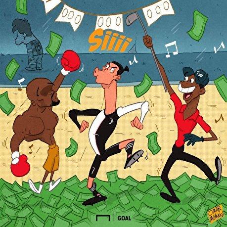 کارتون  مرد یک میلیارد دلاری