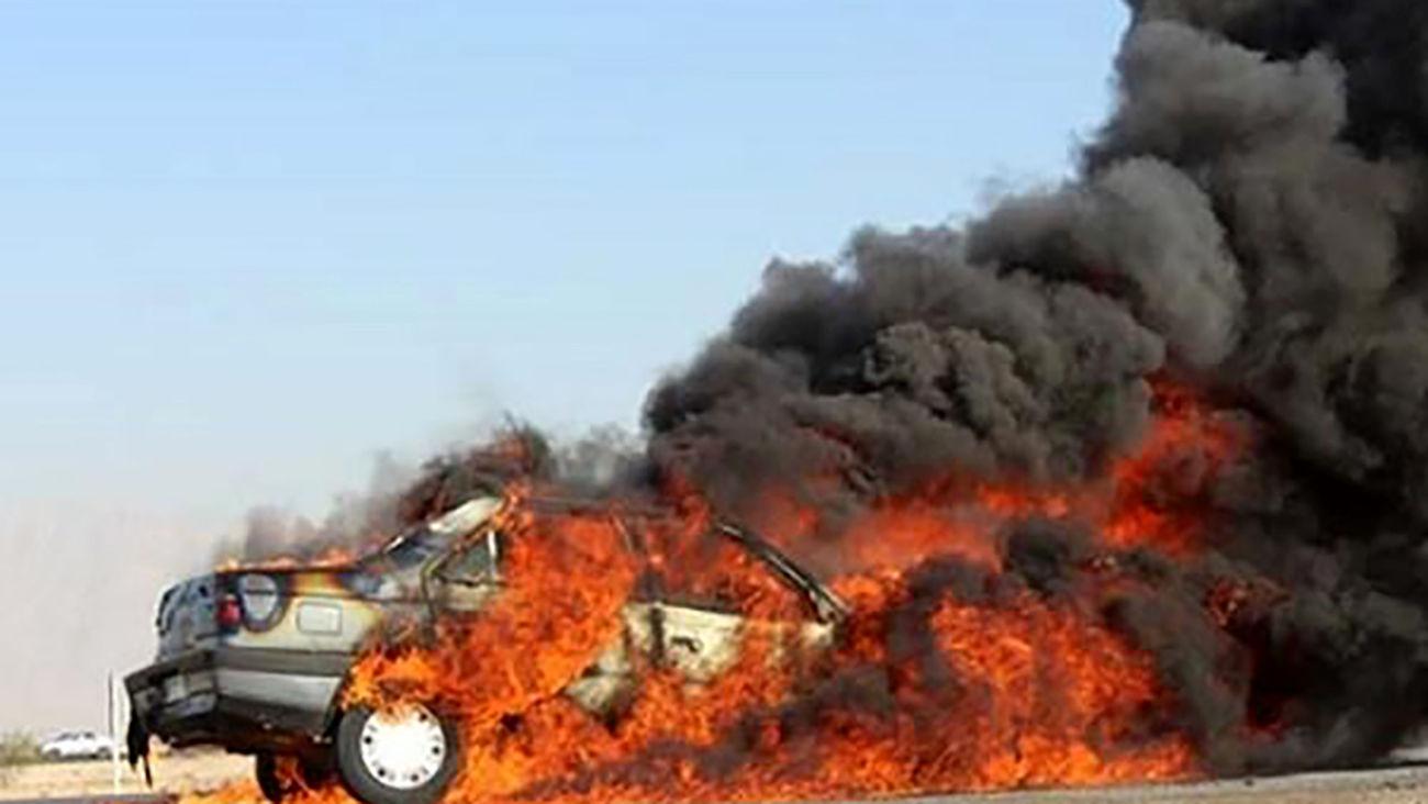 زنده زنده سوختن ۴ سرنشین پژو در ماهشهر