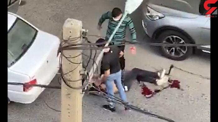 تیراندازی وحشتناک در سعادت آباد به خاطر یک دختر+فیلم