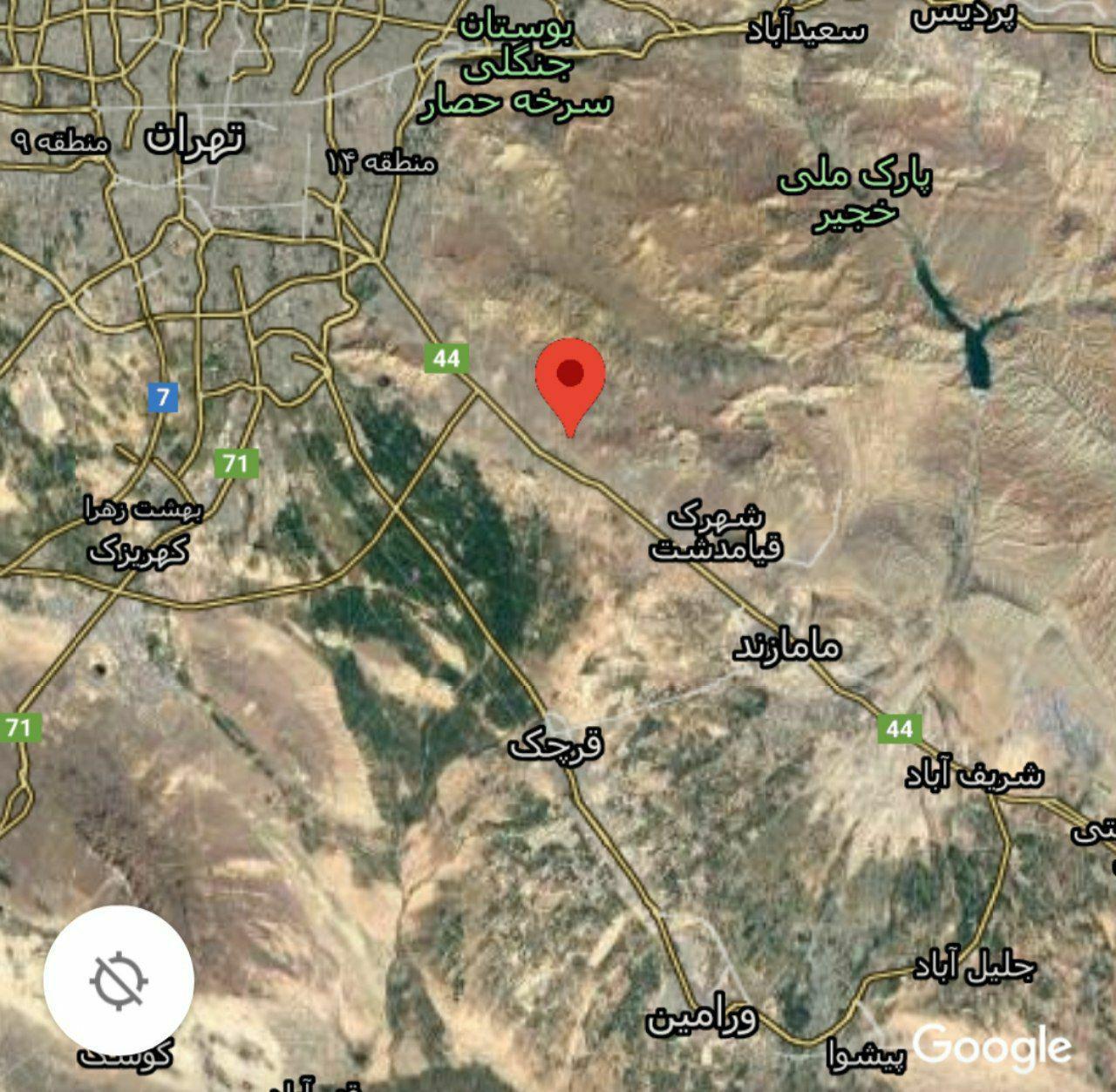 زلزله در جنوب تهران / دقایقی پیش در قیامدشت رخ داد