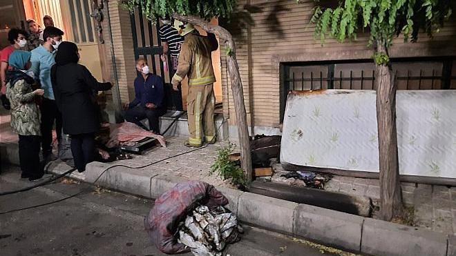 زنده زنده سوختن مرد تهرانی در خانه ویلایی + عکس تلخ