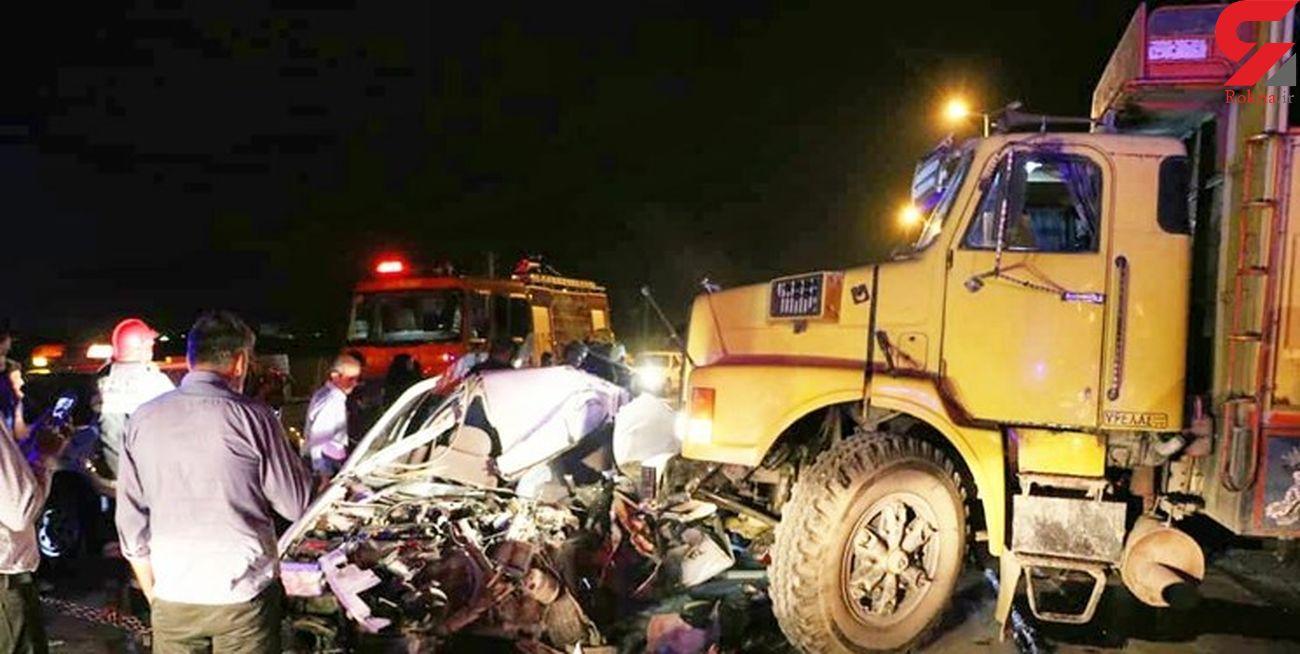 فاجعه مرگبار در هریس / کامیون پیکان را با 2 سرنشین له کرد + عکس تلخ