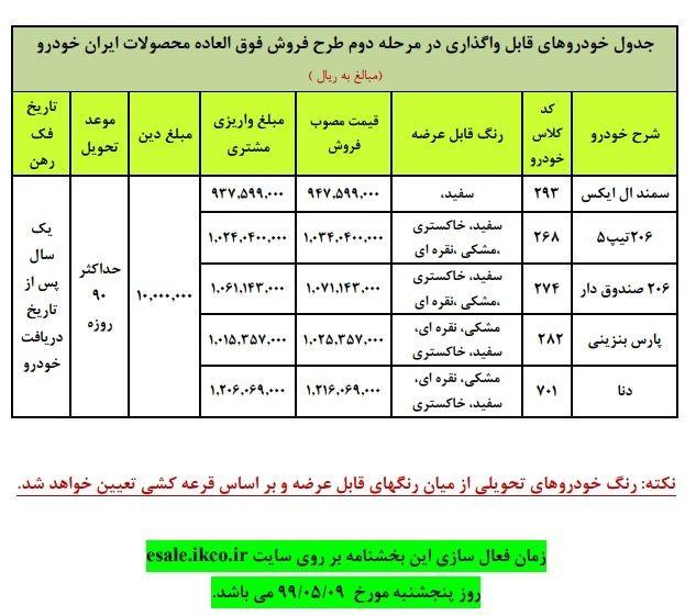 فروش فوقالعاده ایران خودرو از فردا+جزئیات
