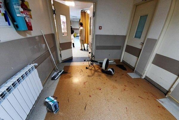 فیلم حمله وحشیانه اراذل و اوباش به اورژانس بیمارستان باقرالعلوم / ساعتی پیش رخ داد