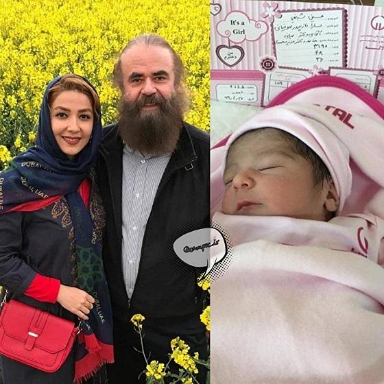 مرد سینمای ایران در ۶۳ سالگی پدر شد/عکس