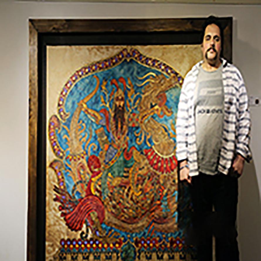 مرگ نقاش همدانی در اثر کرونا + آثار هنری