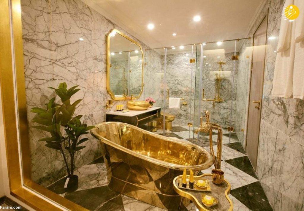 نخستین هتل با روکش طلا در جهان + عکس