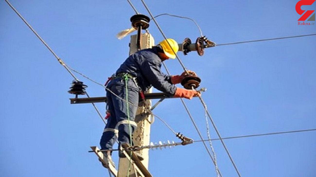 کارگر اداره برق گرمسار را برق گرفت !