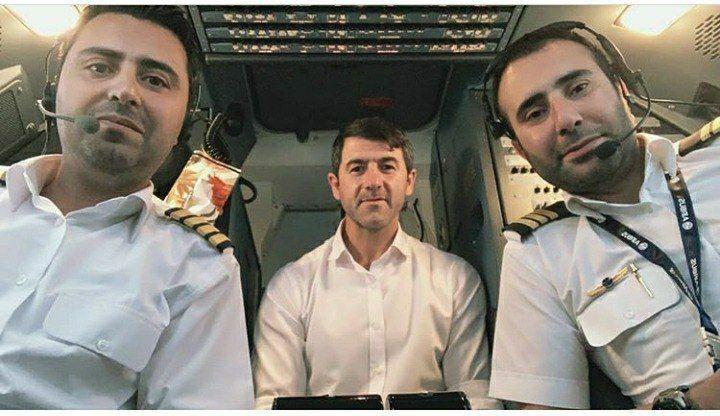 کریم باقری در کابین خلبان + عکس