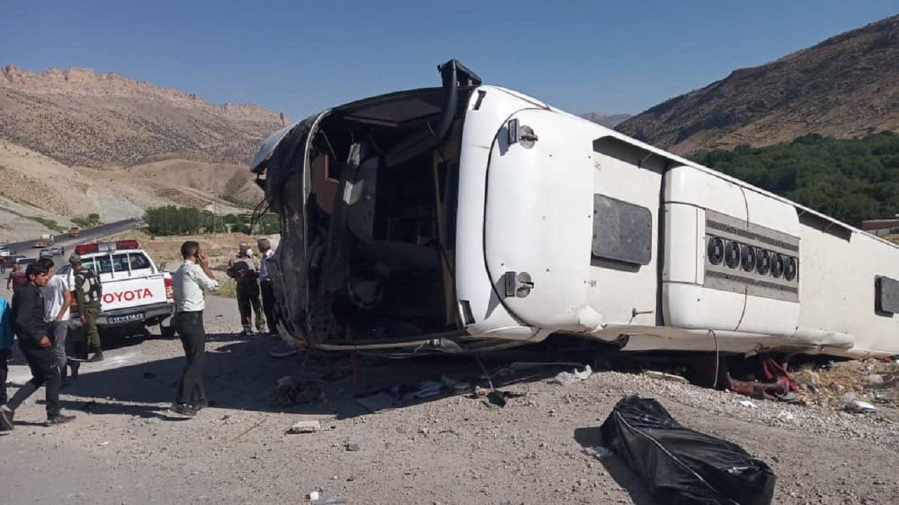 ۵ کشته در تصادف مرگبار اتوبوس با سمند  / در لردگان رخ داد+ عکس های وحشتناک