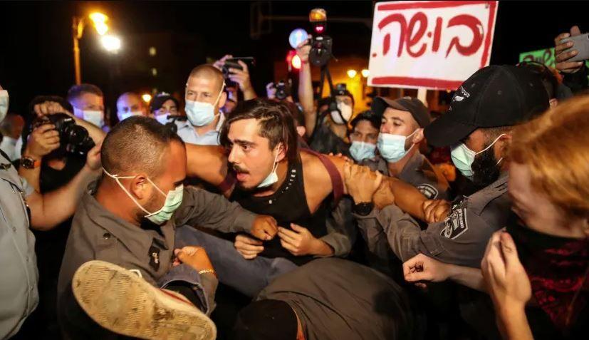 اعتراضات اسرائیل| حداقل ۵۵ معترض بازداشت شدند +فیلم