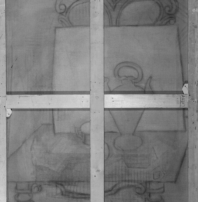 طراحی مخفی شده روی یکی از تابلوهای پابلو پیکاسو