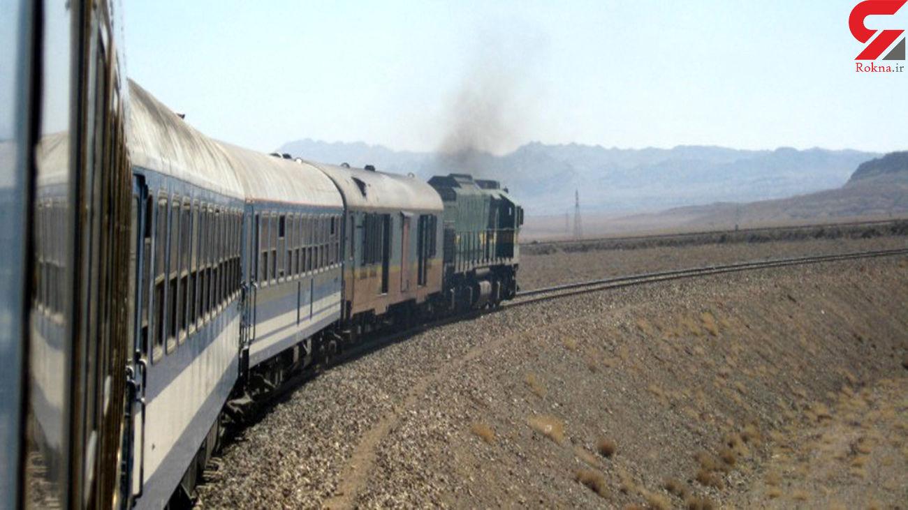 آتش سوزی لوکوموتیو قطار مسافربری تهران به بندرعباس