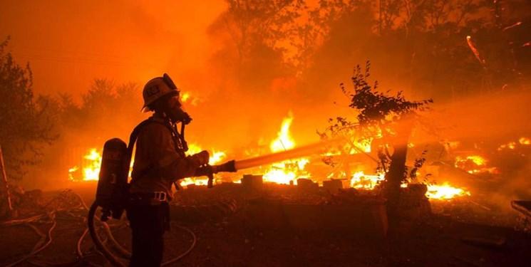 آتش سوزی در آمریکا