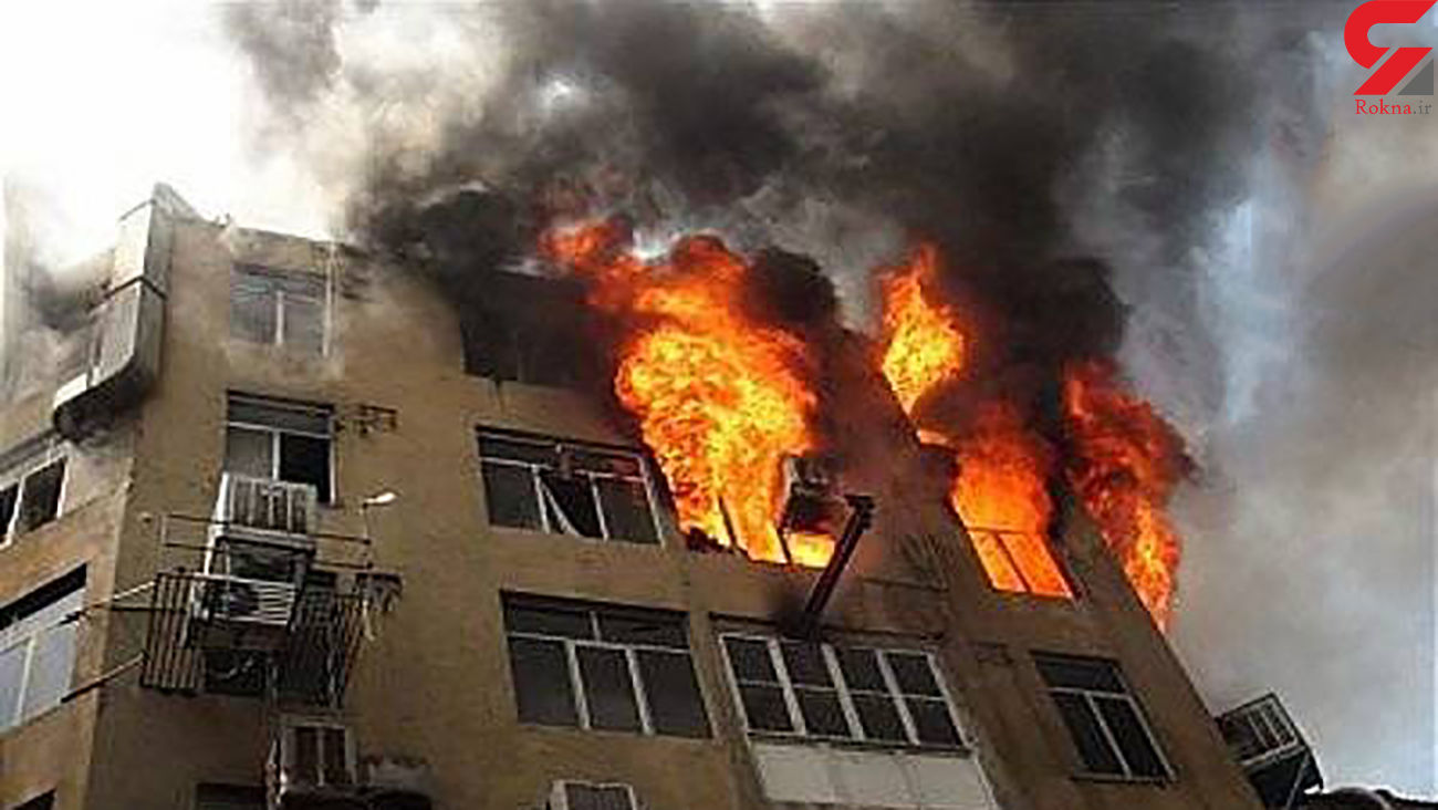 آتش سوزی و انفجار یک خانه در مهاباد
