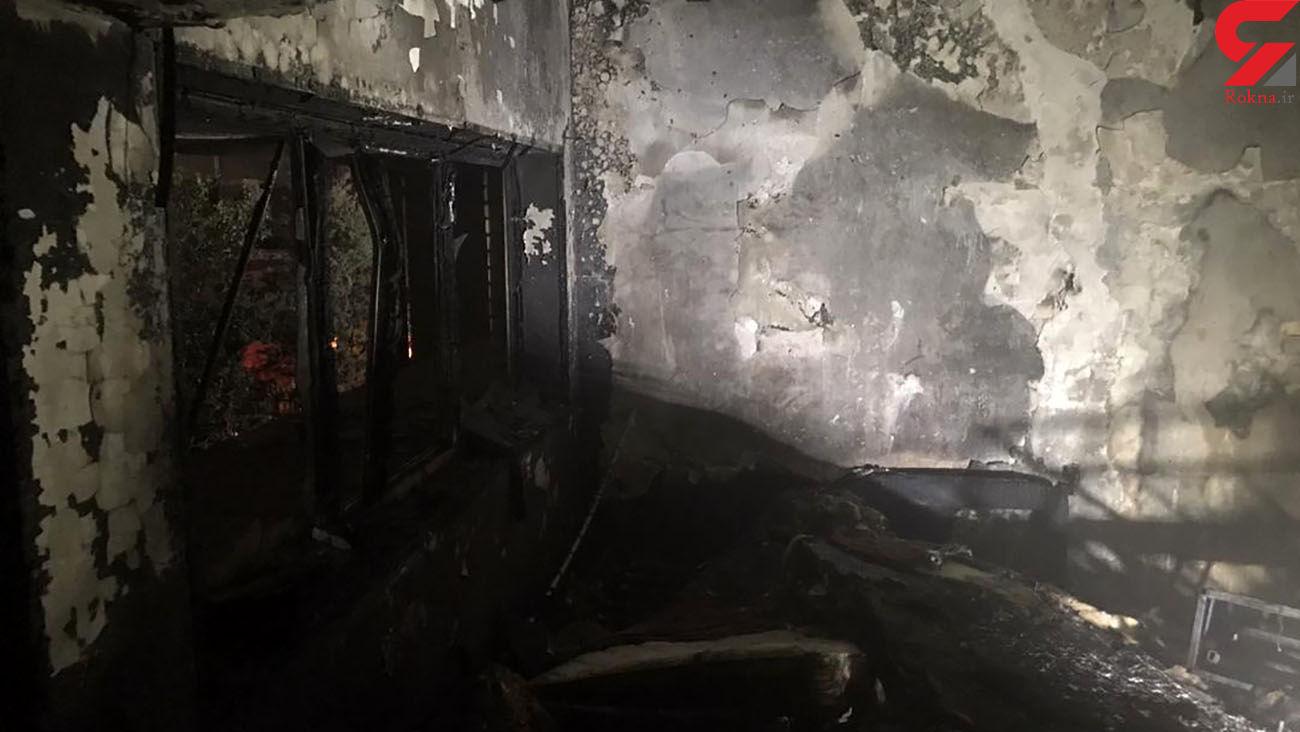 آتش سوزی یک مسافرخانه در قلب تهران / یک زن و 5 مرد به پشت بام پناه بردند /ساعاتی پیش رخ داد + فیلم و عکس