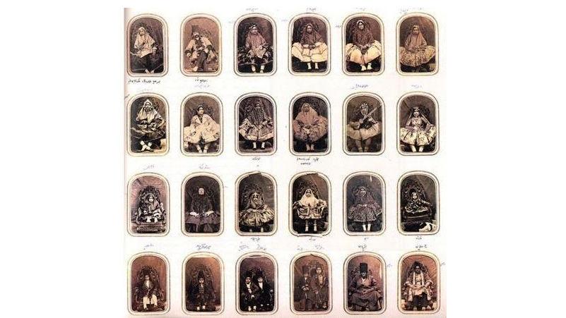 آلبوم ناصری کاخ گلستان دزدیده نشده بود / دیروز پیدا شد + عکس های زنان ناصرالدین شاه