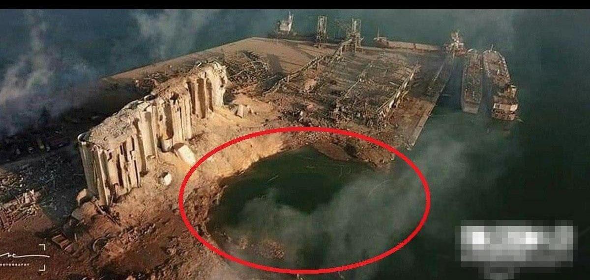بخشی از بندر بیروت از نقشه حذف شد! + عکس
