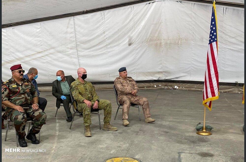 تحویل پایگاه تاجی به نیروهای عراقی + عکس