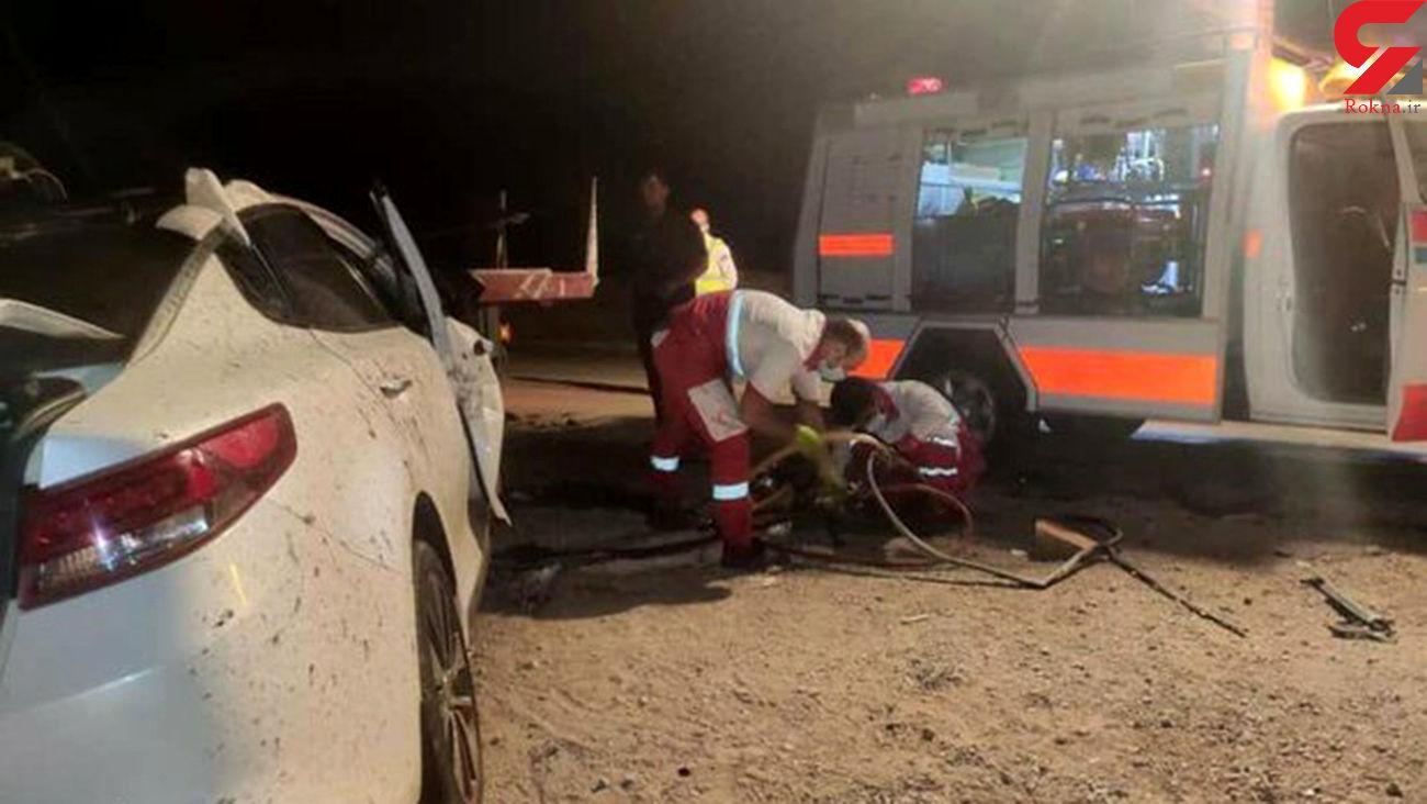 تصادف سواری اوپتیما با تریلی در محور دامغان-جندق / ۲ نفر جان باختند