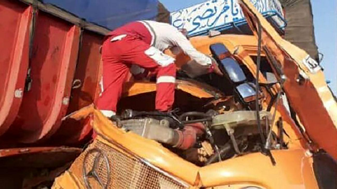 تصادف کامیون و تریلی در میامی