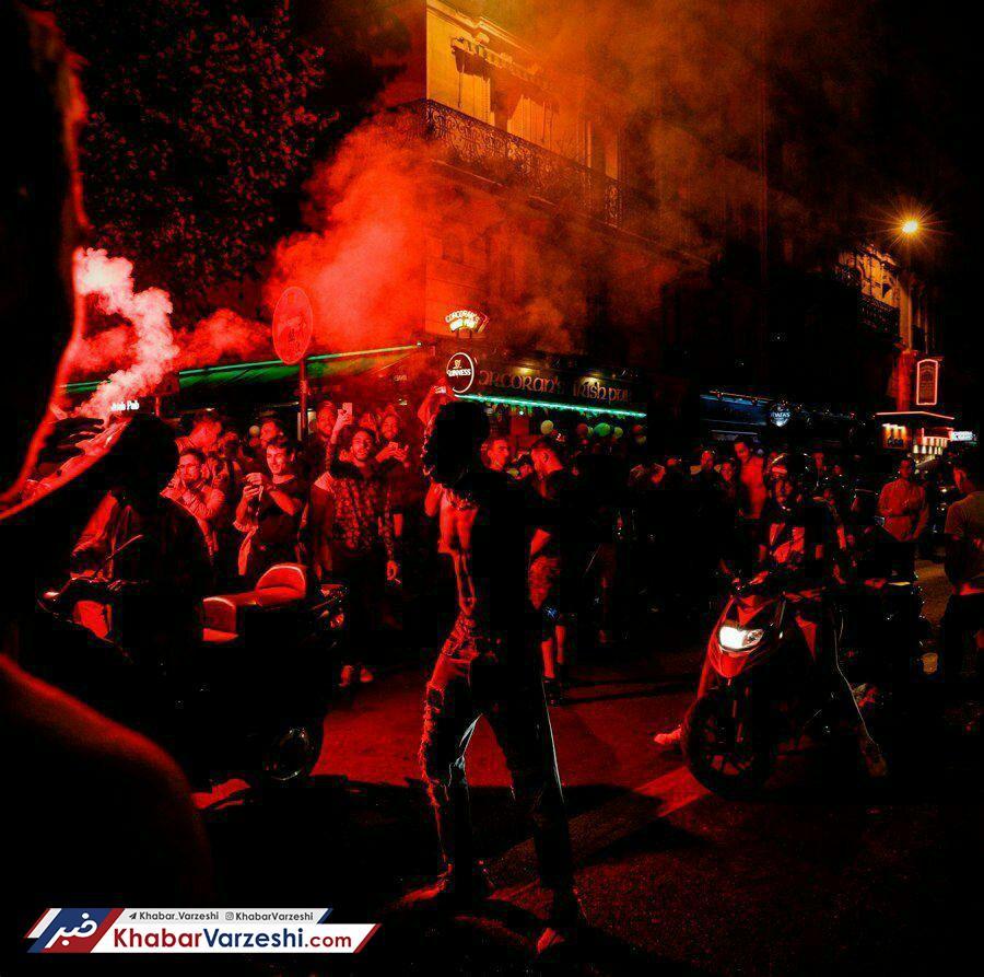 جشن کرونایی پاریسیها آشوب شد؛ پایکوبی با گاز اشکآور در شانزهلیزه