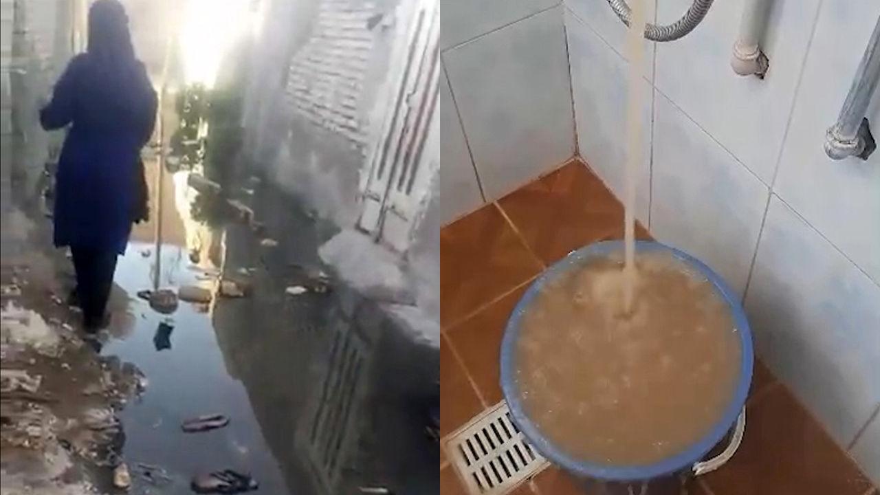 فیلمی از وضعیت اسفناک آب و فاضلاب در آبادان