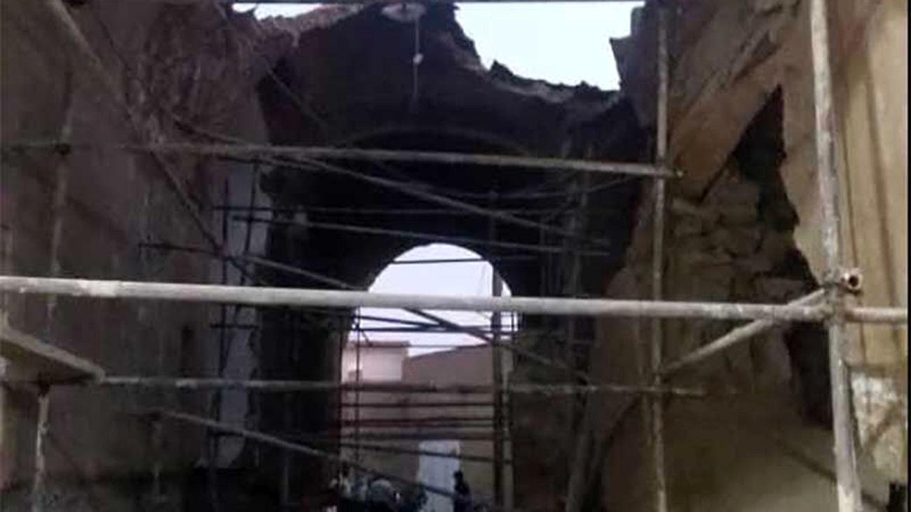 ساباط بازار حسینیه فیروزآباد میبد فرو ریخت