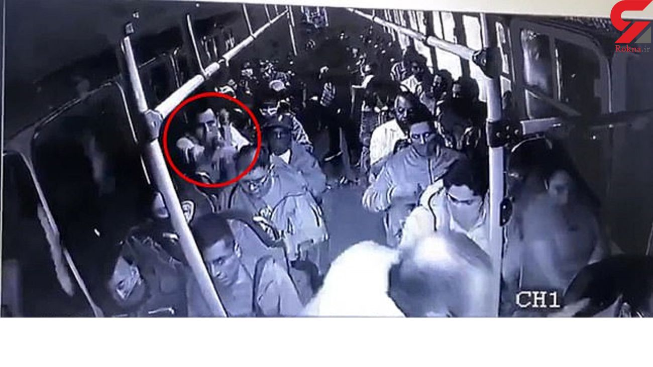 درگیری مسلحانه در داخل اتوبوس پر از مسافر! + فیلم