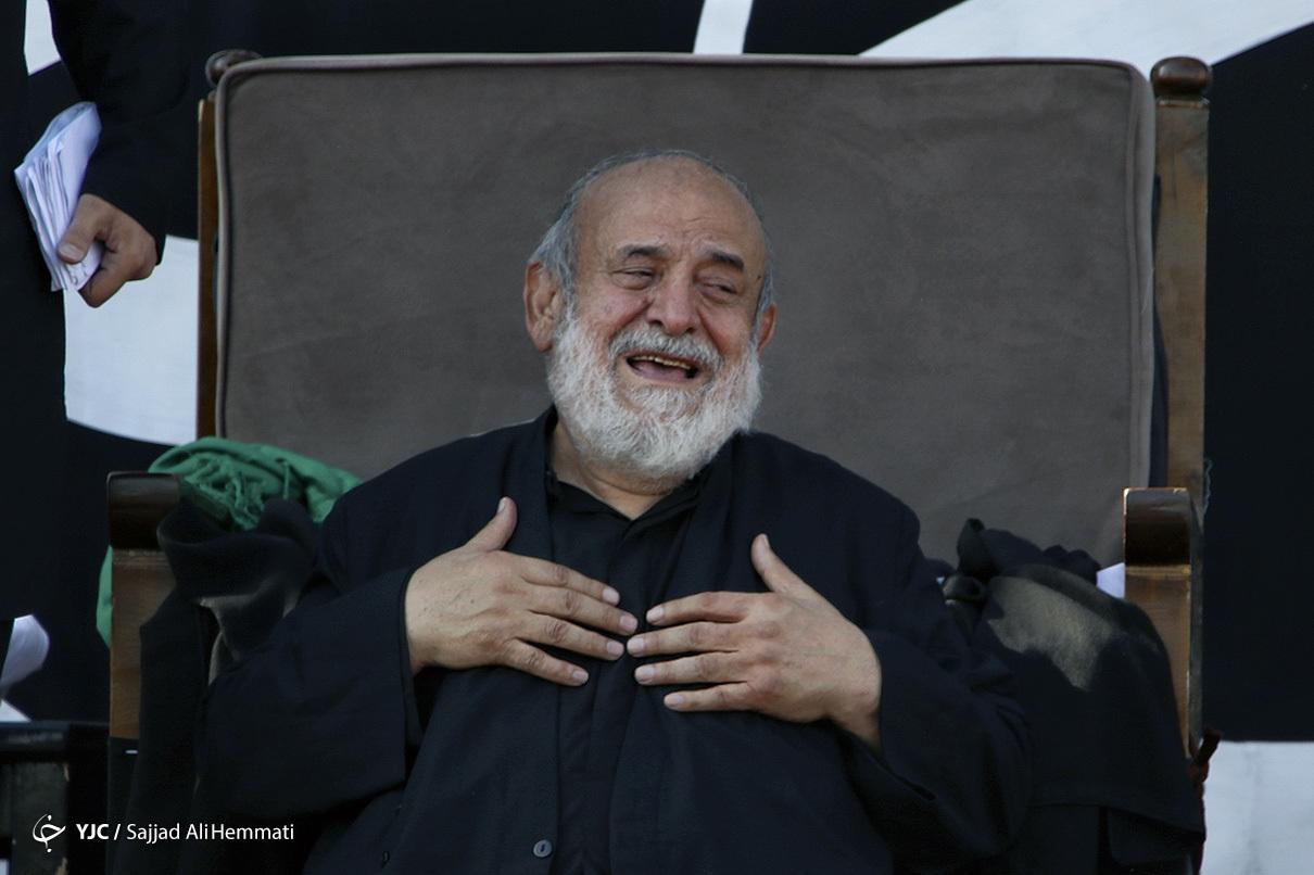 عزاداری شیخ حسین انصاریان در روز تاسوعا  + عکس