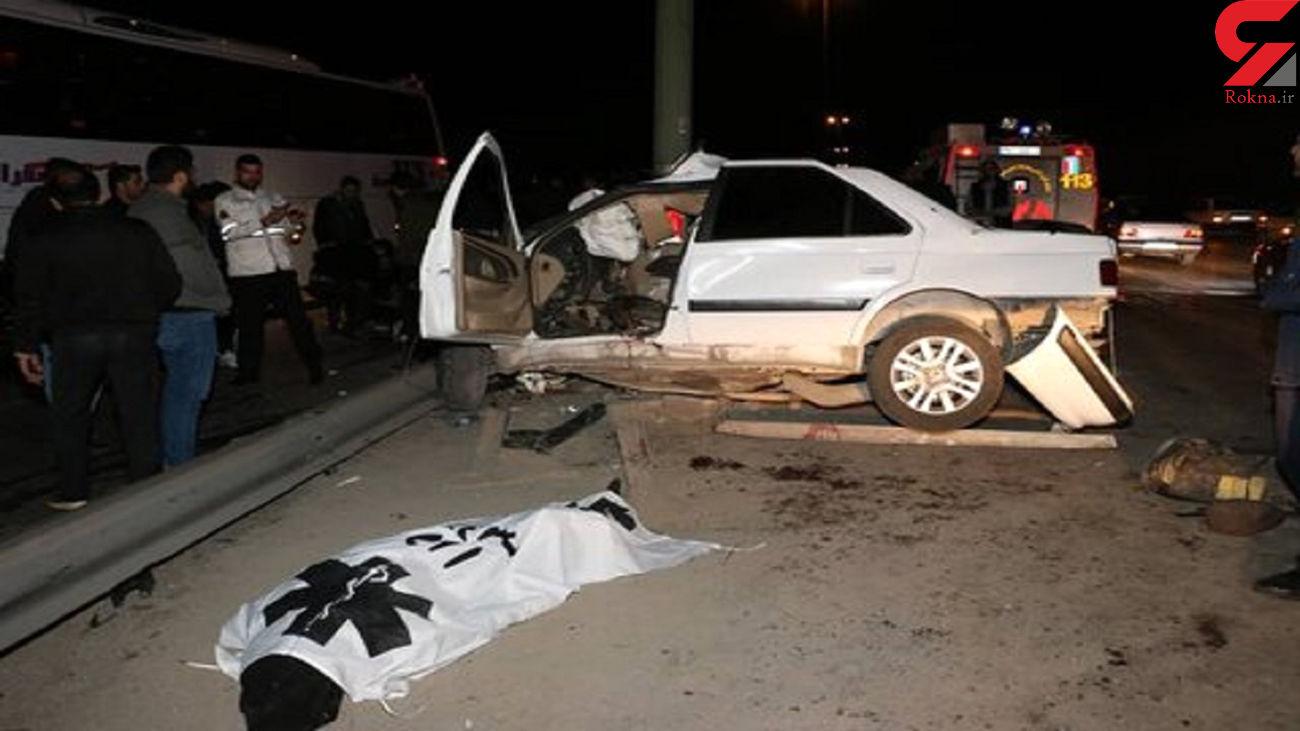 عکسی تکاندهنده از جنازه جوان اصفهانی کنار ماشین له شده !
