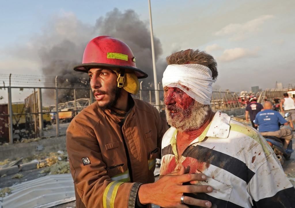 فیلم ها و عکس های جامانده از انفجار آخر الزمانی بیروت