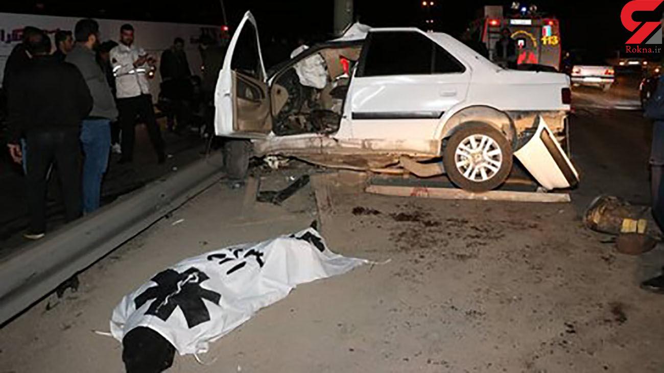 مرگ جوان اصفهانی در تصادف با پژو