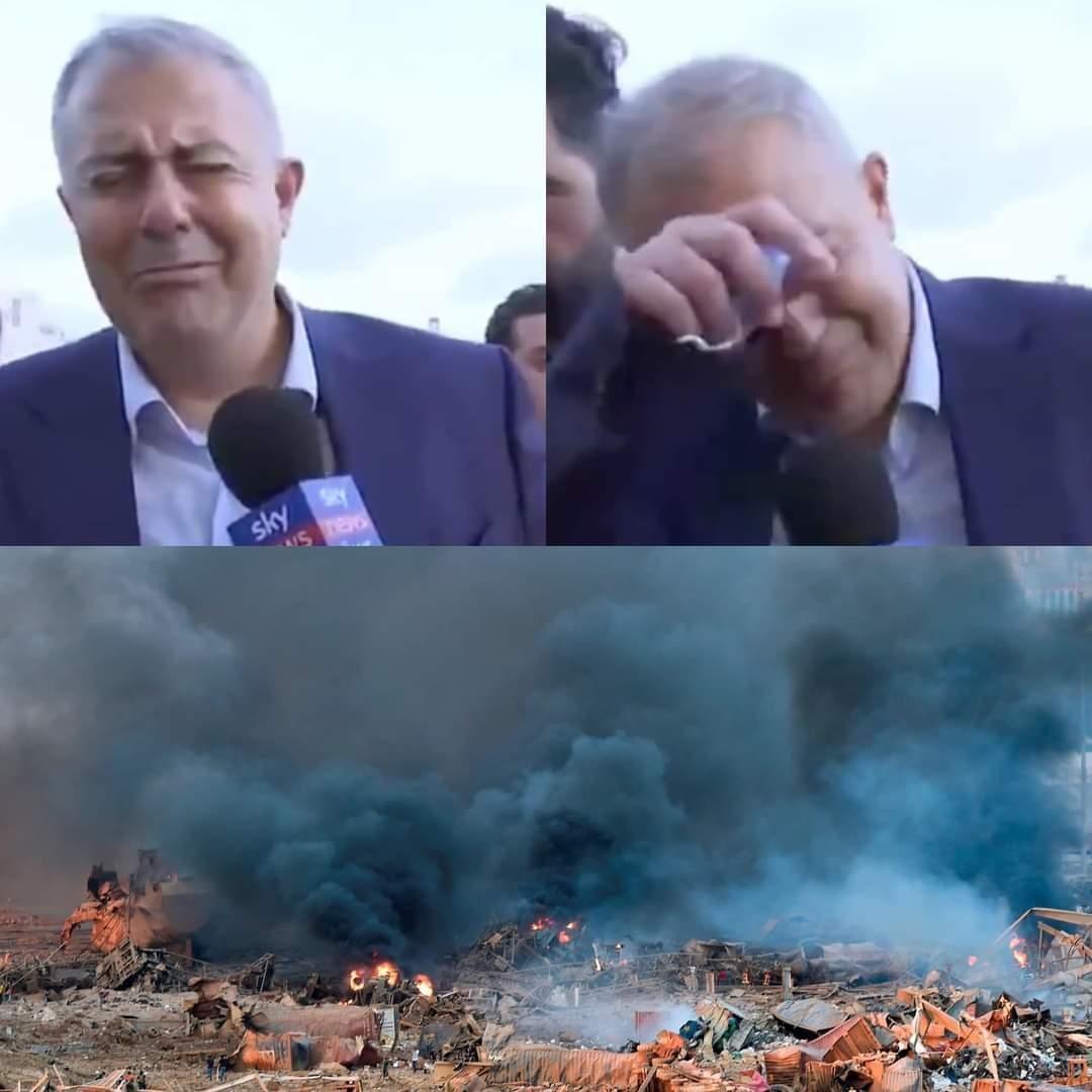 استاندار بیروت متاثر از صحنههای وحشتناکی که مشاهده کرده و میزان خساراتی که در پی انفجار بیروت به جا مانده بود، به گریه افتاد.