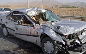 یک کشته و ۲ مجروح در تصادف اردبیل