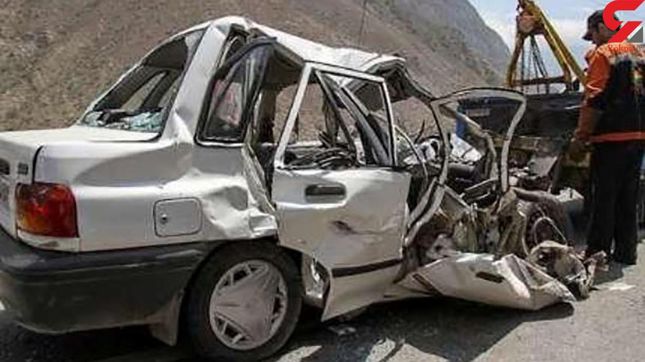 ۲ کشته در تصادف پراید با کامیون در بوانات فارس